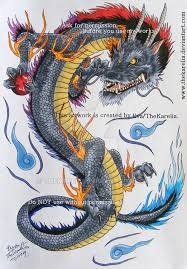 dragon tattoo design by thekarelia on deviantart