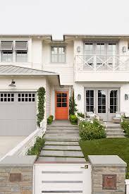 orange front door orange front door beach house with off white