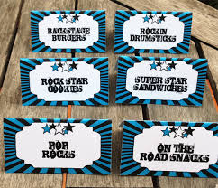 rockstar birthday party printables invitations u0026 decorations