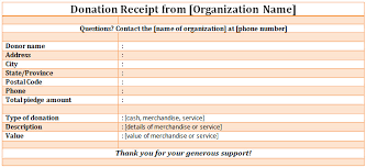 non profit donation receipt template free word and jpg format