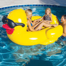 a unique and adorable way to relax in the water this derby duck