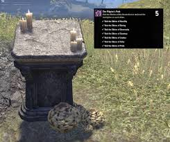 Bal Foyen Treasure Map Eso Pilgrim U0027s Path Achievement Shrines Of Seven Graces In Morrowind