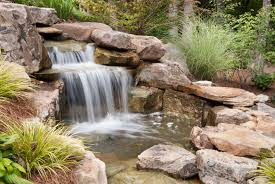 backyard waterfalls and backyards makeovers design pictures