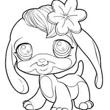 little pet shop cute dog with flower coloring pages batch coloring