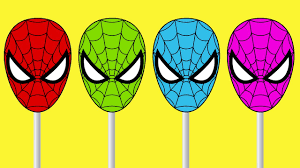 learn colors with spiderman cake pop funny videos learn colors