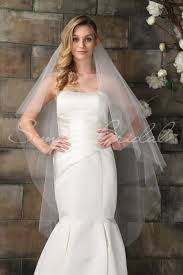 wedding veils 87010 two tier 50 edge veil simply bridal