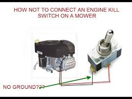how not to connect an engine kill switch on a small engine youtube