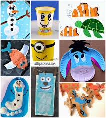 craft ideas for kitchen disney character crafts made with items found in the kitchen