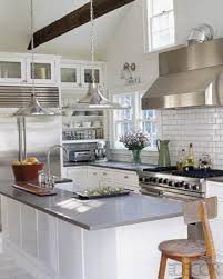White Cabinets With Grey Quartz Countertops White Cabinets Grey Subway Tiles Design Ideas