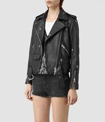 biker jacket women allsaints eaves leather stud biker jacket in black lyst