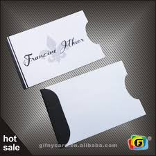 gift card sleeve custom plastic card sleeve card sleeve gift card bag