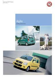 vauxhall agila brochure 2007 by vauxhall