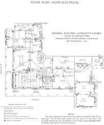 electrical floor plan symbols house plan the general electric company at the panama pacific