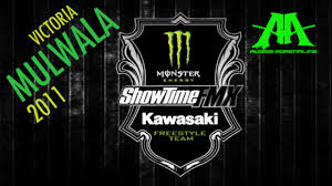 kawasaki emblem monster energy showtime kawasaki fmx team mulwala vic presented