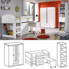 jugendzimmer set g nstig jugendzimmer set lenny 3tlg weiß mit hochbett wimex möbel