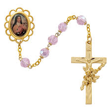 gold rosary therese gold rosary