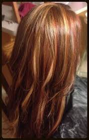hair styles foil colours foil hair color red brown base color with heavy foils of caramel