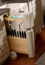 Under Cabinet Knife Holder by Pull Out Kitchen Storage Cabinets Dura Supreme Cabinetry