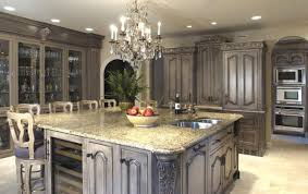 Kitchen Ideas Cream Cabinets Luxury Kitchen Ideas With Floor Tile And Hanging Lamps Also Cream