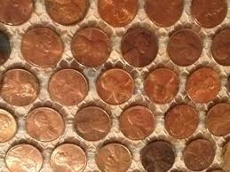 Copper Penny Tile Backsplash - real actual us copper penny tile backsplash or floor kvs mint coin