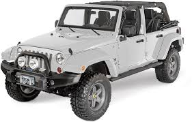 jeep wrangler white 4 door bushwacker 11 75