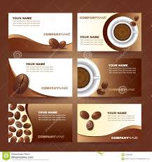 coffee business card template vector set design stock vector