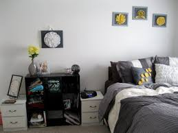 bedroom ideas awesome cheap minimalist furniture grey and yellow