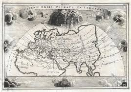africa e asia mappa 1700 cellarius map of asia europe and africa according to strabo