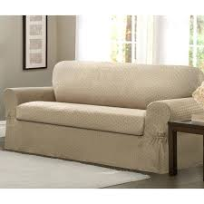 t cushion sofa slipcover 2 piece sure fit stretch leather 2 piece