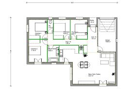 plan maison en l 4 chambres attrayant plan maison cubique gratuit 14 chambre plan maison 4
