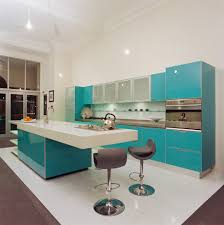 modern pink kitchen modern retro kitchen glass dining room table pale pink walls cool