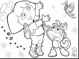 spectacular dora birthday printable coloring pages with diego