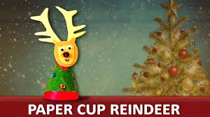 how to make a paper cup reindeer