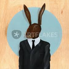rabbit prints david lynch rabbit painting prints and posters by