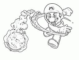 mario fireball coloring pages coloring