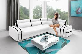 Leather Corner Sofa Beds by Corner Sofa Bed Avatar Storage Container Sleep Function Pouffe