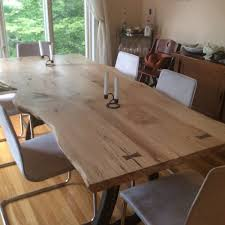 Live Edge Dining Table Local Spalted Hard Maple  Studio - Maple kitchen table