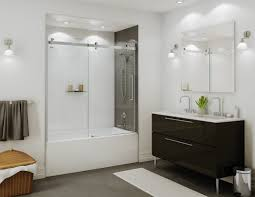 Glass Doors For Tub Shower Inline Tub Shower Using Deluxe Header Edited Bathtub Doors Family