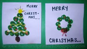 our thumbprint christmas cards fun handprint art