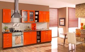 Colorful Kitchen Cabinets To Add A Spark To Your Home - Orange kitchen cabinets