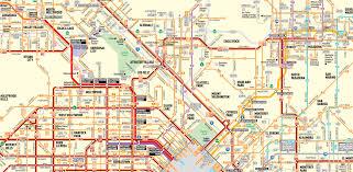 La Metro Bus Map by Freeways Let U0027s Go La