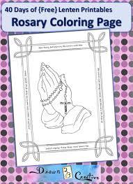 40 free lenten printables rosary coloring