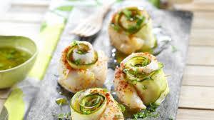 courgette cuisiner recette rouleaux de sabre et courgette vapeur sauce citron et