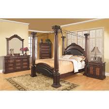coaster furniture 202201ke grand prado king poster bed in cherry