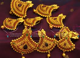 south indian bridal hair accessories online h3476 temple jewellery gheru gold plated hair decoration hook