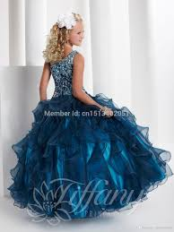 online shop 2015 new blue princess party dresses flower
