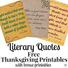 thanksgiving printables free literary quotes organized 31