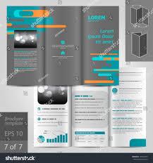 vector gray brochure template design blue stock vector 175940255