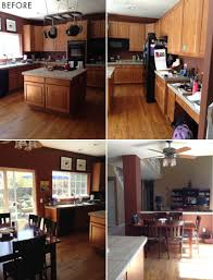 how to lighten dark cabinets without painting marvelous cures for a maple orange kitchen emily henderson pic of