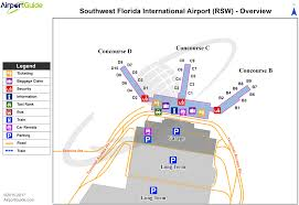 Map Of Sw Florida by Fort Myers Southwest Florida International Rsw Airport